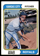 1974 Topps #17 Doug Bird Signed Auto Autograph RC Rookie