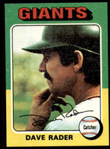 1975 Topps #31 Dave Rader Near Mint or Better  ID: 207117