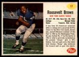 1962 Post Cereal #17 Roosevelt Brown Ex-Mint