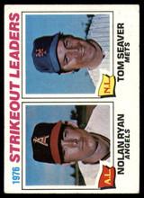 1977 Topps #6 Nolan Ryan/Tom Seaver Strikeout Leaders Very Good  ID: 146945