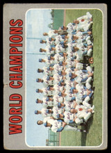 1970 Topps #1 World Champions Mets Poor