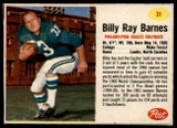 1962 Post Cereal #31 Billy Ray Barnes Near Mint