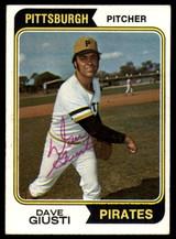 1974 Topps #82 Dave Giusti Signed Auto Autograph