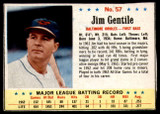 1963 Post Cereal #57 Jim Gentile Excellent+  ID: 199980