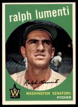 1959 Topps #316 Ralph Lumenti Senators EX/NM  ID: 103479