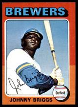 1975 Topps Mini #123 Johnny Briggs Ex-Mint