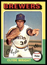 1975 Topps Mini #408 Clyde Wright Ex-Mint