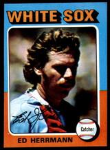 1975 Topps Mini #219 Ed Herrmann Ex-Mint