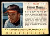 1963 Post Cereal #34 George Thomas UER Poor
