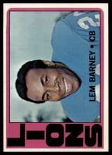 1972 Topps #42 Lem Barney Near Mint+