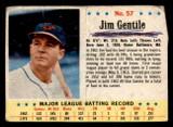 1963 Post Cereal #57 Jim Gentile Poor