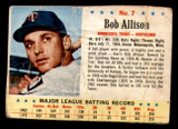 1963 Post Cereal #7 Bob Allison Poor