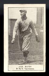 1921 E220 National Caramel #10 Joe Bush EX-Mint Yankees