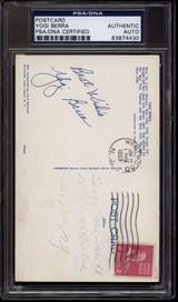 Yogi Berra  Dorman Postcard PSA/DNA Auto Signed Yankees Vintage Sig ID: 86688