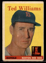 1958 Topps #1 Ted Williams VG