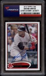 2012 Topps #505 David Ortiz Fanatics Authentic Boston Red Sox MLB Hologram