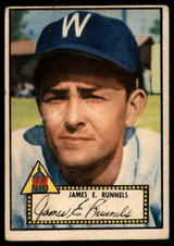 1952 Topps #2 Pete Runnels VG Red Back RC Rookie ID: 89858