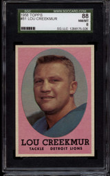 1958 Topps #81 Lou Creekmur SGC 8 NM-Mint