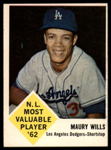 1963 Fleer #43 Maury Wills EX/NM RC Rookie ID: 83048