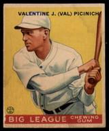 1934 Goudey V354 World Wide Gum #3 Val Picinich VG/EX Very Good/Excellent