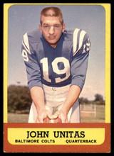 1963 Topps #1 Johnny Unitas VG