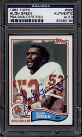 1982 Topps #500 Hugh Green PSA/DNA Signed Auto Tampa Bay Buccaneers ROOKIE RC