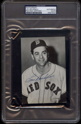 Lou Boudreau Boston Red Sox PSA/DNA Auto Signed Photo in PSA Holder
