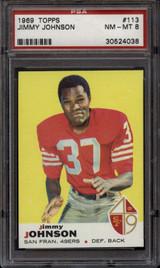 1969 Topps #113 Jim Johnson PSA 8 NM-Mint
