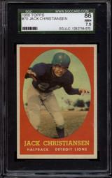 1958 Topps #70 Jack Christiansen SGC 7.5 Near Mint+