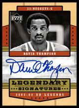 2003-04 UD Legends  LS-DT David Thompson Auto Signed Denver Nuggets