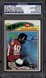 1977 Topps #276 Wilbur Jackson PSA/DNA Signed Auto 49ers ROOKIE RC