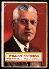 1956 Topps #1 Will Harridge PRES G
