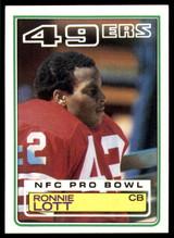 1983 Topps #168 Ronnie Lott Near Mint+  ID: 187959