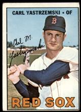 1967 Topps #355 Carl Yastrzemski Yaz Red Sox VG