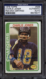 1978 Topps #338 Charlie Joiner PSA/DNA Signed Auto Chargers