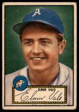 1952 Topps #34 Elmer Valo VG Red Back ID: 78404