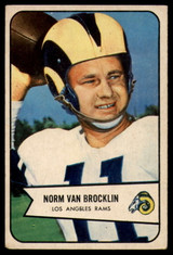 1954 Bowman #8 Norm Van Brocklin VG Very Good