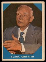 1960 Fleer #15 Clark Griffith Excellent