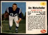 1962 Post Cereal #83 Jim Mutscheller Excellent