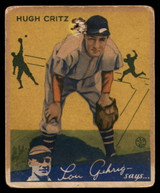 1934 Goudey #17 Hugh Kritz P Poor