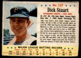 1963 Post Cereal #137 Dick Stuart Very Good  ID: 183520