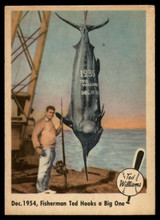 1959 Fleer Ted Williams #54 Dec. 1954, Fisherman Ted Hooks a Big One EX++ Excellent++  ID: 96716