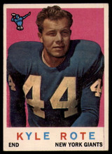 1959 Topps #7 Kyle Rote Very Good