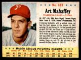 1963 Post Cereal #183 Art Mahaffey Very Good  ID: 183535