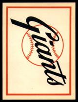 1961 Fleer Baseball Greats Team Logo Decals #16 San Francisco Giants NM+  ID: 96056
