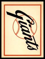 1961 Fleer Baseball Greats Team Logo Decals #16 San Francisco Giants NM+  ID: 96059