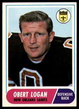 1968 Topps #4 Obert Logan Ex-Mint  ID: 141595