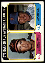 1974 Topps #206 Jim Palmer/Tom Seaver LL ERA Leaders Very Good