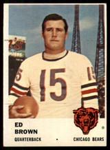 1961 Fleer #1 Ed Brown EX/NM