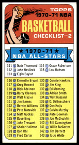 1970-71 Topps #101a Checklist 111-175 EX Excellent Marked